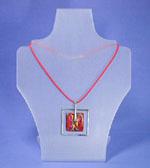 Collier-Ständer aus Plexiglas, Maße 250x90x195 mm, gebürstet