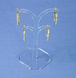Ohrringhalter aus  Acryl, 90 mm hoch, klar